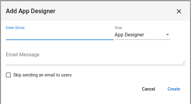 App Designer Create