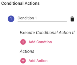 Conditional Actions