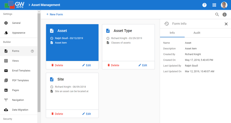 Forms Dashboard