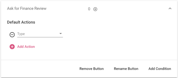 Default Actions Action Buttons