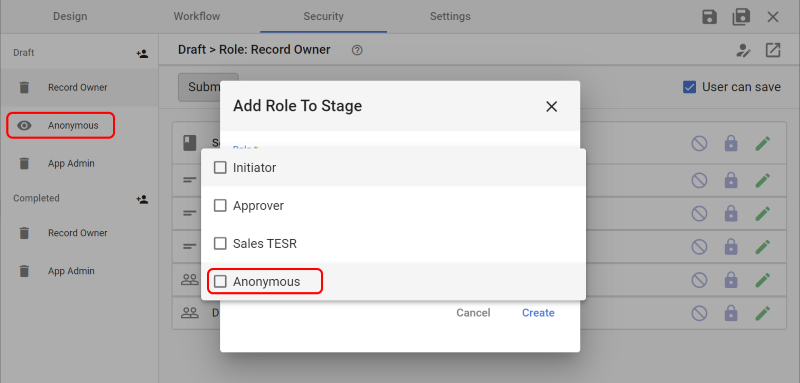 Anonymous Access Role