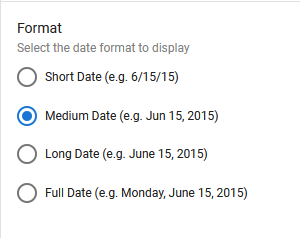 Table View Format Example