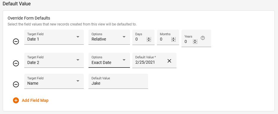 View Editor Default Value