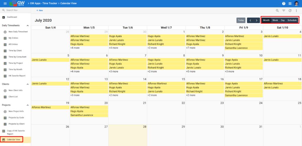 New Releases & Recent Updates - July 2020 Calendar View