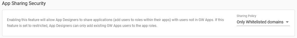 App Sharing Settings