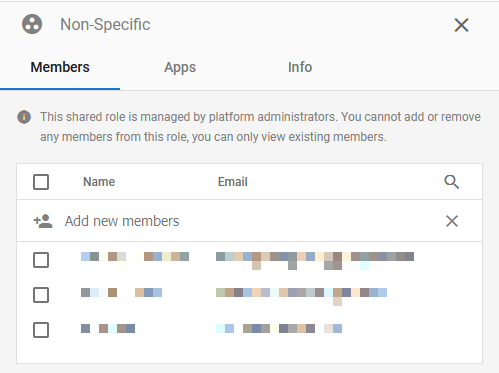 Manage Shared Roles