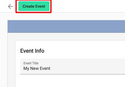 Event Management Create